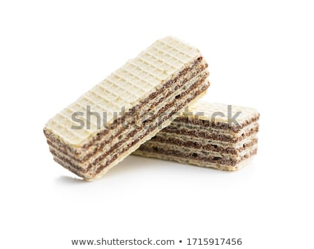 Chocolate wafers on white background Stock photo © magraphics