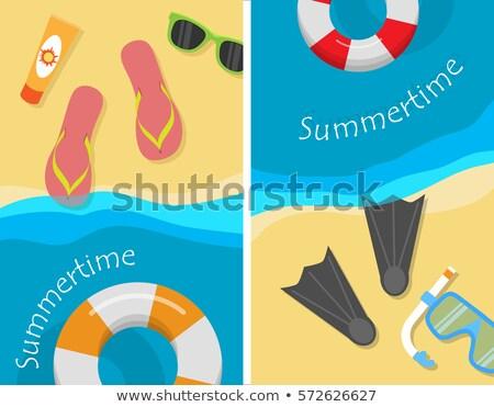 Nyáridő nyaralások víz sportok vektor jókedv Stock fotó © robuart