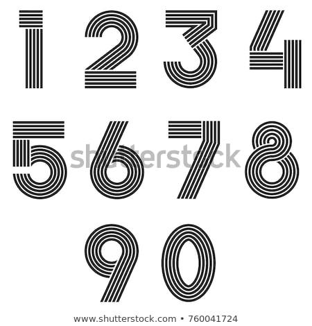 Numeri set sottile line math simboli Foto d'archivio © kyryloff