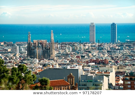 familia · Barcelona · ünlü · mimari · İspanya · inşaat - stok fotoğraf © lichtmeister