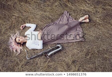 女性 サクソフォン 肖像 きれいな女性 セクシー 小さな ストックフォト © lichtmeister