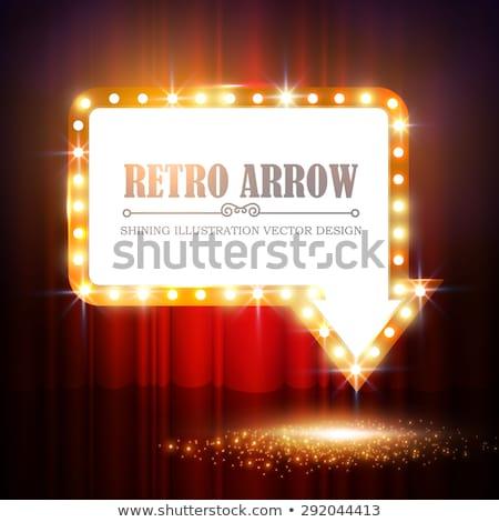 vector · rojo · dorado · marco · luz · efecto - foto stock © robuart