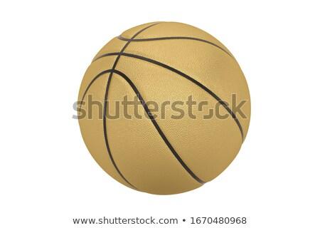 3D boisko do koszykówki pomarańczowy piłka odizolowany biały Zdjęcia stock © MarySan