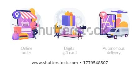 Autonomous courier concept vector illustration. Stock photo © RAStudio