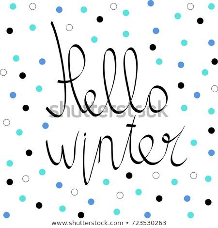 Hello tél kifejezés grunge dizájn elem poszter Stock fotó © masay256