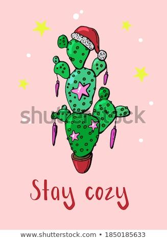 陽気な クリスマス キャプション 挨拶 休日 はがき ストックフォト © robuart