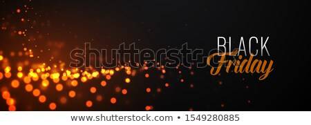 awesome black friday glowing particles banner design Stock photo © SArts