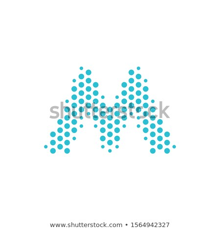 Dotted Letter M logo. Metro symbol. Alphabet particles logotype. Stock Vector illustration isolated  Stock photo © kyryloff