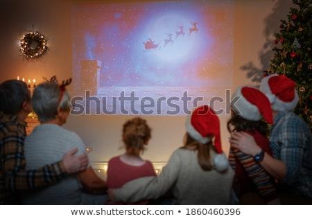 Gelukkig kinderen kerstboom opening presenteert Stockfoto © Len44ik