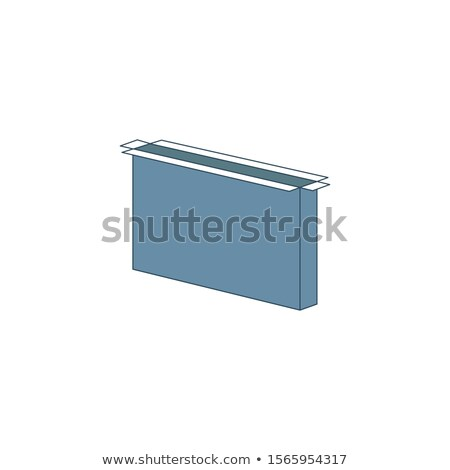 Ince tv 3D kutu açmak Stok fotoğraf © kyryloff