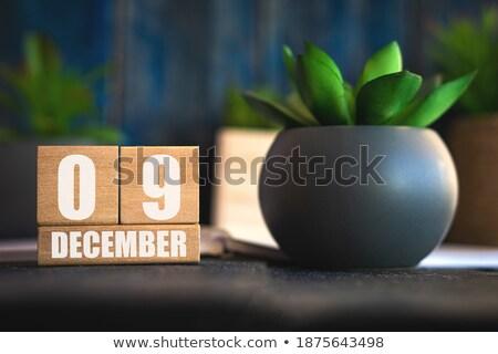Cubes calendar 9th December Stock photo © Oakozhan