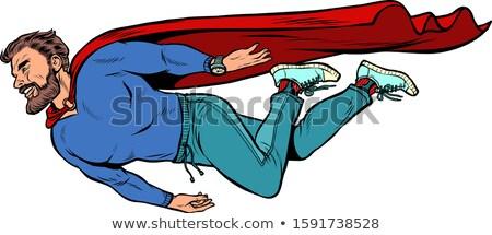 hipster bearded male superhero. flies Stock photo © studiostoks