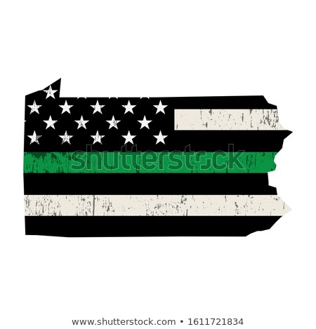 State of Pennsylvania Military Support American Flag Illustratio Stock photo © enterlinedesign
