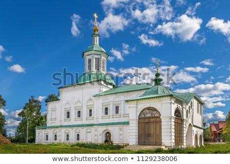 Kerk Rusland hemel kruis zomer aanbidden Stockfoto © borisb17