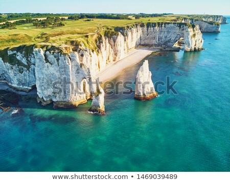 The white chalk cliffs Stock photo © elxeneize
