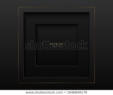 Vektor fekete absztrakt tér papír vág Stock fotó © Iaroslava