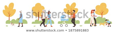 People Walking at Streets Cityscapes Set Weekends Stock photo © robuart