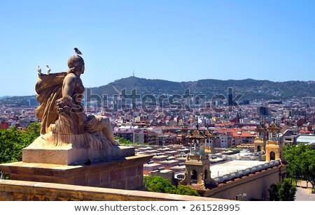 Tepe Barcelona İspanya adam beyaz Stok fotoğraf © nito