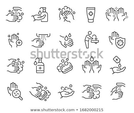Igiene sapone schiuma icona contorno illustrazione Foto d'archivio © pikepicture