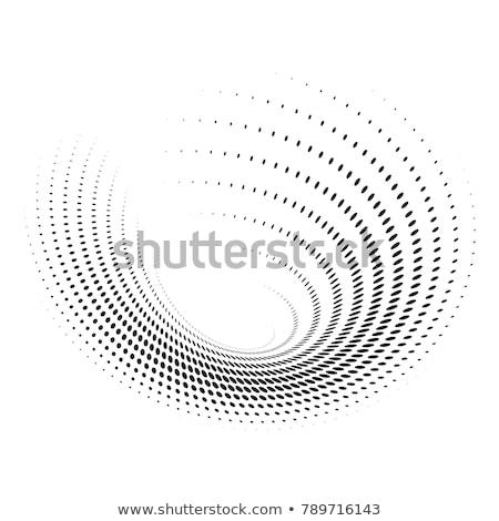 Elegante circular medios tonos patrón resumen retro Foto stock © SArts