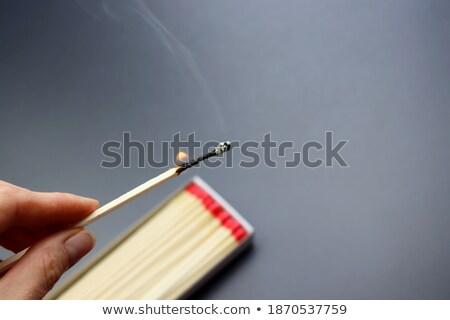 Open fireplace, macro burning wood background. Stock photo © artjazz