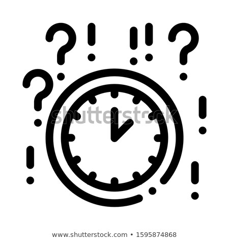 Man Question Mark Frame Icon Outline Illustration Stock photo © pikepicture