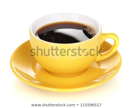 Um copo café topo ver fresco Foto stock © dashapetrenko