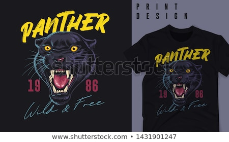 Angry Black Panther Head Mascot Stock photo © patrimonio