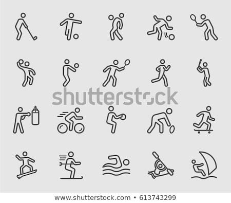 Extrém sport ikon gyűjtemény webes ikonok felhasználó interfész terv Stock fotó © ayaxmr