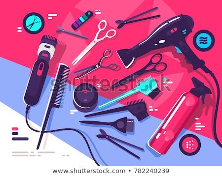 Tools kam haardroger schaar machine illustratie Stockfoto © jossdiim