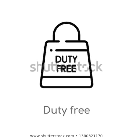 duty free sign icon vector outline illustration Stock photo © pikepicture