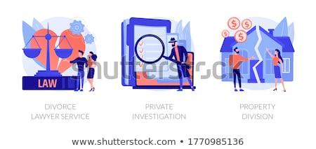 Untersuchung abstrakten Detektiv Vertretung Dienstleistungen Firma Stock foto © RAStudio
