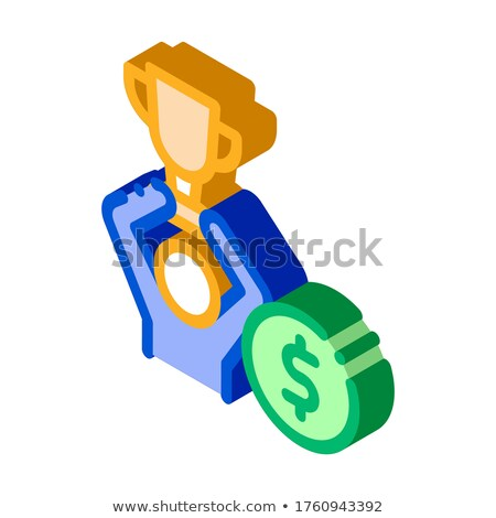 Man Win Prize Betting And Gambling isometric icon vector illustration Stock photo © pikepicture