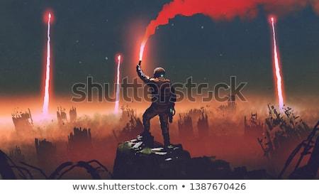 Oorlog games machine kogels hand vrede Stockfoto © poco_bw