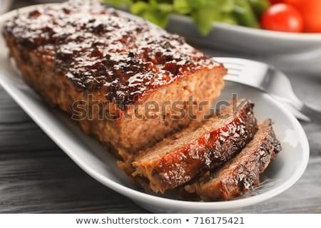 Carne pão peça comida pão cozinhar Foto stock © pavel_bayshev