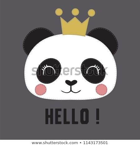 panda · negro · tener · Asia · relajante · cute - foto stock © sahua