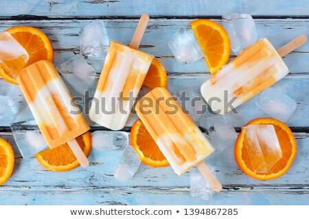 オレンジ キャンディー 白 黒 夏 バー ストックフォト © glorcza