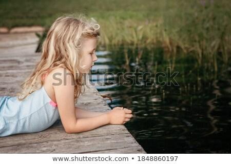 Bella giovane ragazza fiume bella acqua Foto d'archivio © EdelPhoto