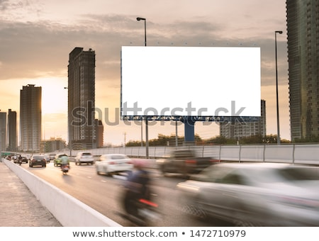 autoroute · Billboard · ciel · herbe · route · nature - photo stock © moses
