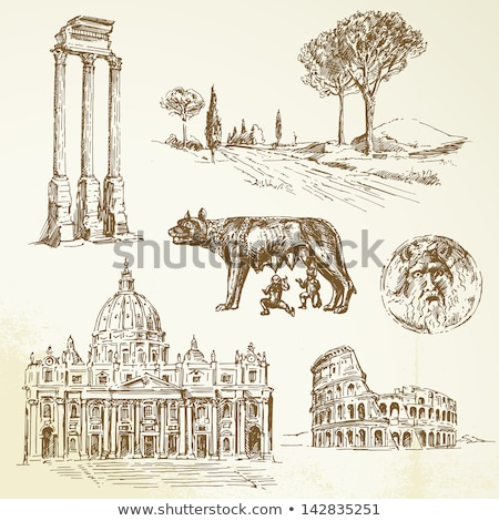 romulus and remus rome symbol Stock photo © Studiotrebuchet