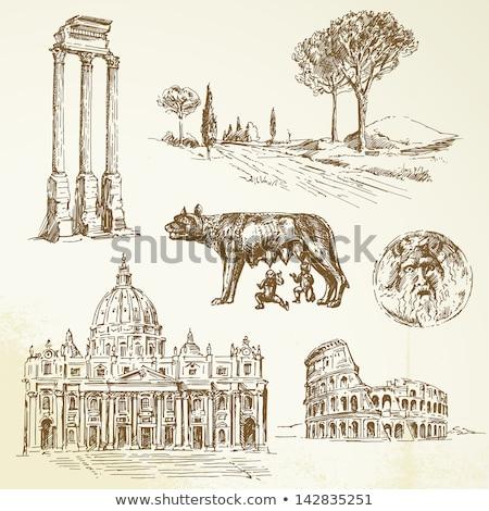 romulus and remus rome symbol stock photo © studiotrebuchet