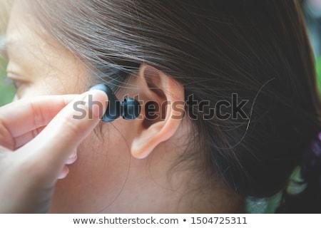 Kulaklık 3d illustration yalıtılmış beyaz kulaklık dijital Stok fotoğraf © Spectral