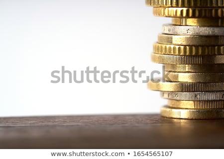 Euro moedas isolado branco negócio dinheiro Foto stock © mahout