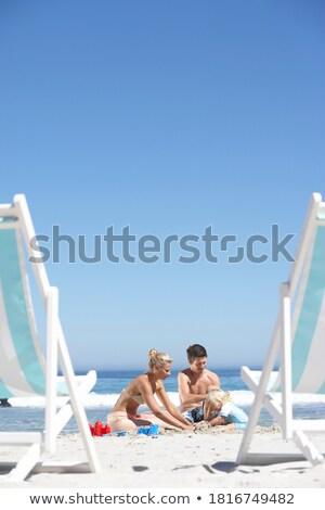 Casal praia filha praia família paisagem Foto stock © photography33