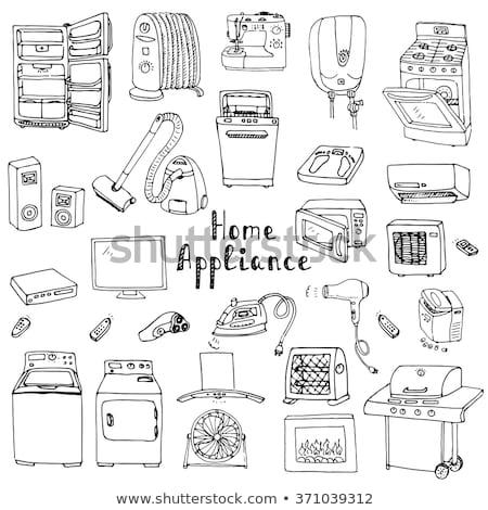 vintage · ventilador · retro · ilustración · global · fondo - foto stock © rastudio