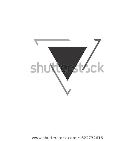 ロゴ 三角形 6 ロゴス 黒白 ストックフォト © Aliftin