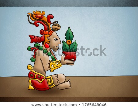 Mayan Lord with Sun Stock photo © xochicalco
