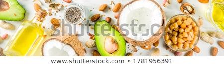 Malzemeler fındık yalıtılmış beyaz Stok fotoğraf © Dizski