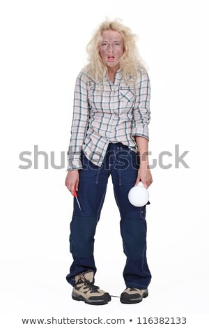 female electrician in all sorts Stock photo © photography33