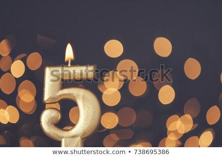 Celebration Candle - Number 5 Stock photo © dehooks